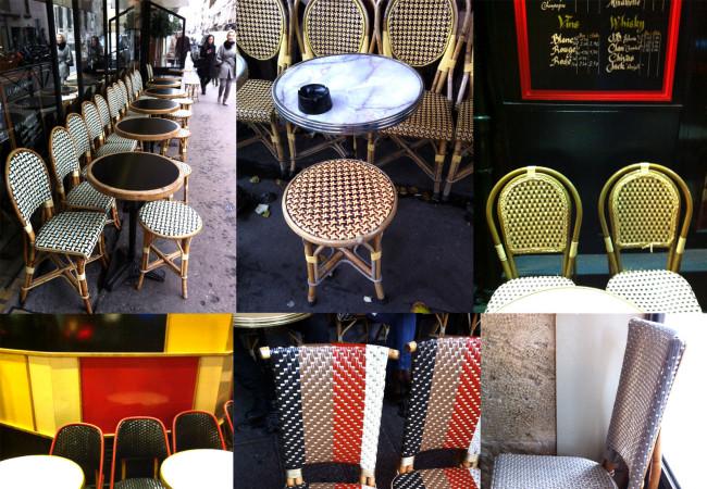 La silla de café parisien