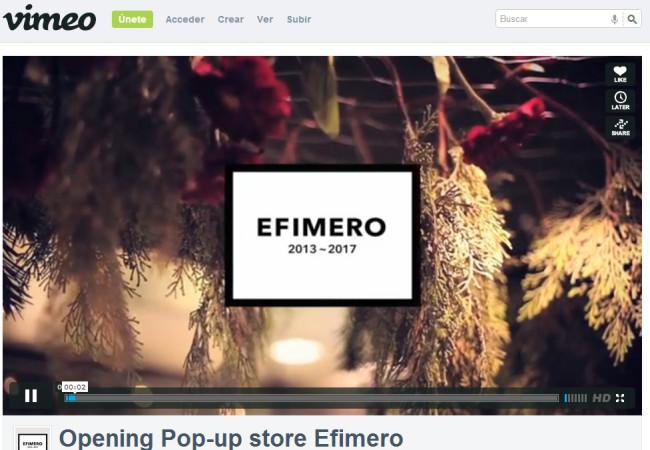 El video de la inauguración de Efimero