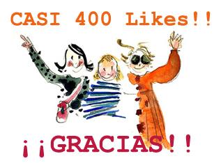 casi 400 likes en Facebook!
